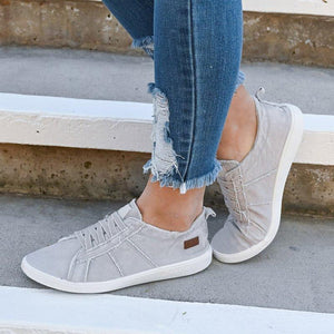 Slip-On Distressed Sneakers - Grey