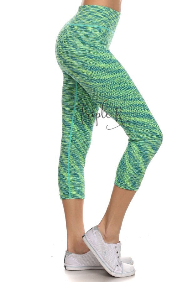 2-Tone Capri Leggings
