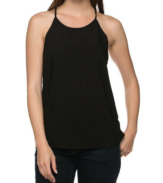 High Neck Halter Racorback Tank