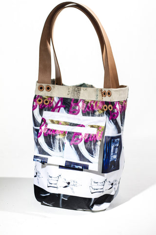 Reversible Peanut Butter Jelly Pitbull Tote for LOVECITYLOVE by Lucien Pellegrin