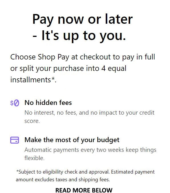 AfterPay - 4 Equal Installments with zero interest