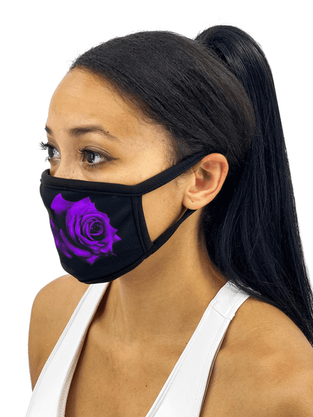 Red or Purple Roses Face Mask With Filter Pocket