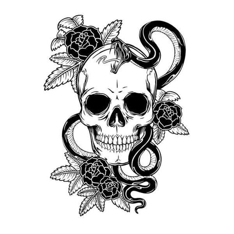 12.4CM*17.2CM Venom Skull Decal - Skull Clothing and Accessories Skull only Merchandise
