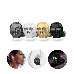 Skull Earbud Bluetooth Earphone Noise Cancelling Hi-Fi Hands free