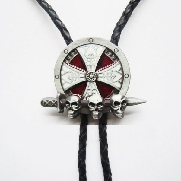 Bolo Tie 3D Skulls With Sword Free Shipping - Skull Clothing and Accessories Skull only Merchandise