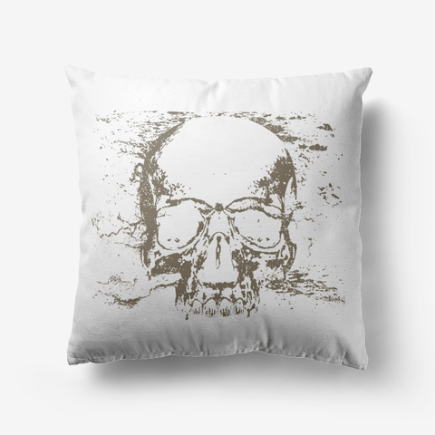 Skull Premium Hypoallergenic Throw Pillow