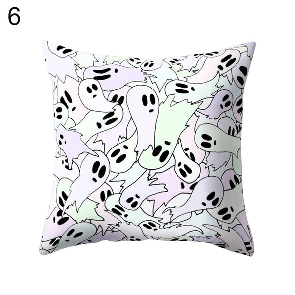 Skull Head Throw Pillow Cushion Cover Home Decor