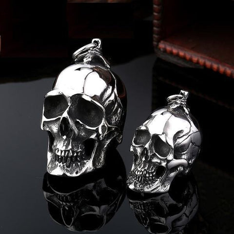 Stainless Steel Punk Skull Pendant Necklace - Skull Clothing and Accessories Skull only Merchandise