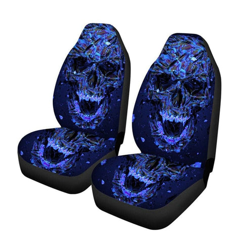 Blue Skull Universal Car Seat Covers Protector
