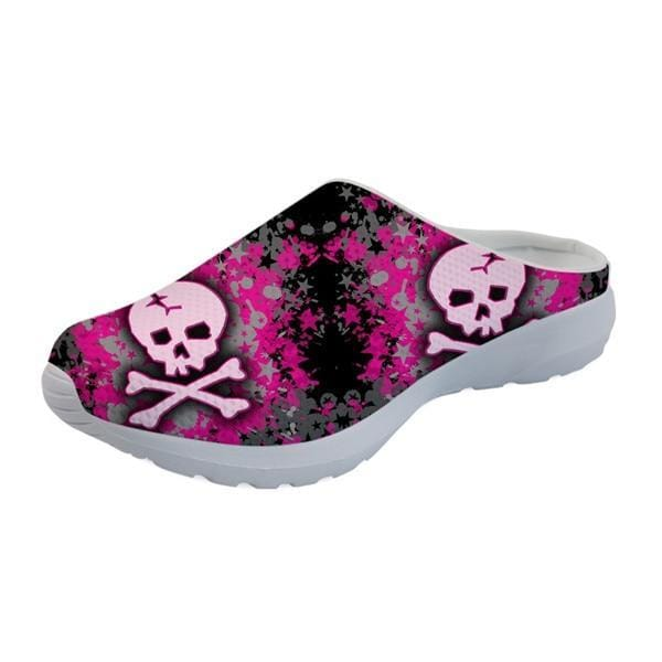 Women's Sandal Flats Skull Pattern Fashion Mesh Comfortable - Skull Clothing and Accessories Skull only Merchandise