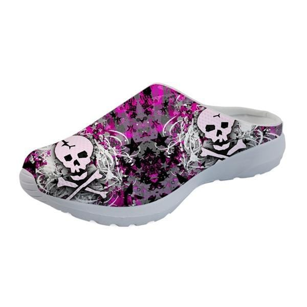Women's Sandal Flats Skull Pattern Fashion Mesh Comfortable