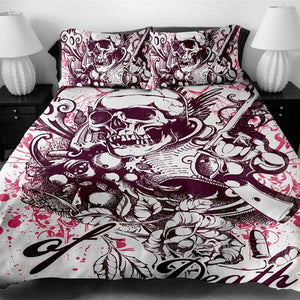 Skull Bedding Set Print Duvet Cover set with pillowcase
