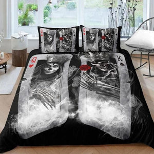 Sugar Skull Bedding Duvet Cover Set