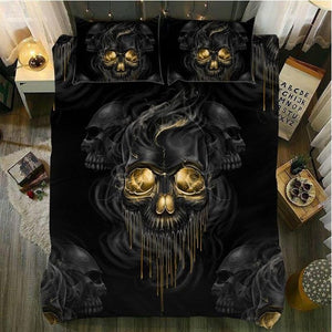 Skull Bedding Duvet Cover Set 3 Pieces