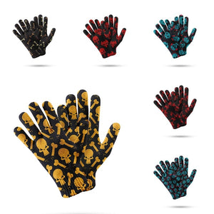 Skull KnittedWomen's Warm 3d Print Touch Screen Gloves