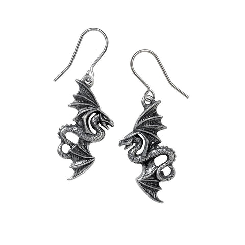 Giant Creature Flight of Airus Dropper Earrings