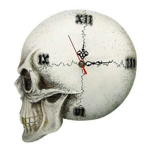 Skull 💀 Wall Clock Home Decor Roman Numerals