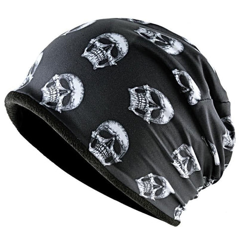 Skull Pattern For Men Winter Warm Beanie Thick Caps Unisex