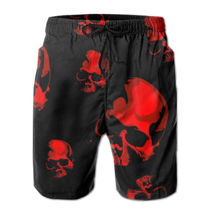 Skull Beach Men's Casual Board Shorts Quick Dry Shorts