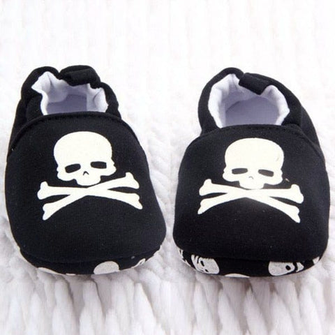 Prewalker Infant Baby Unisex Skull Print Cotton Soft Bottom Shoes