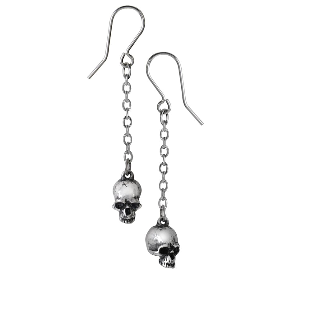 Jawless Deadskulls Pair of small pewter Earrings - Skull Clothing and Accessories Skull only Merchandise
