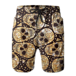 Men's Quick-drying Beach Shorts Skulls Beachwear