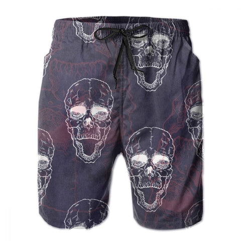 Men's Frightening Skull Beach Board Shorts 10 Patterns
