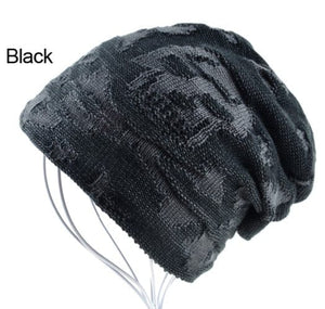 Skull Winter Skullies Knitted Wool Beanie 3 Colors