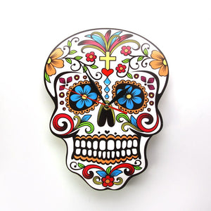 Sugar Skull Mexican Day of the Dead Wall Clock