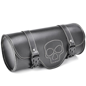 Motorcycle Skull Black Saddlebag For Harley