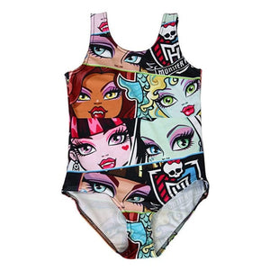 Monster High Draculaura Skull 3D Print One-piece Swimsuit Swimwear Kids bathing suit - Skull Clothing and Accessories Skull only Merchandise