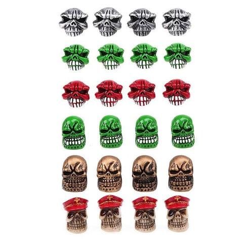 Universal Skull Car Wheel Tire Valve Caps Motorcycle Bicycle Skull Punisher