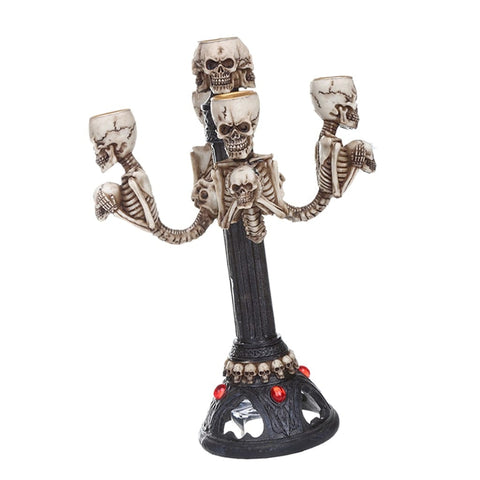 Skull Decorative Table Centerpiece 5-arm Candle Stick Holder