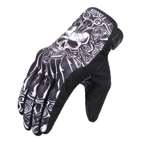 Skull Motorcycle Breathable Full Finger Racing Gloves