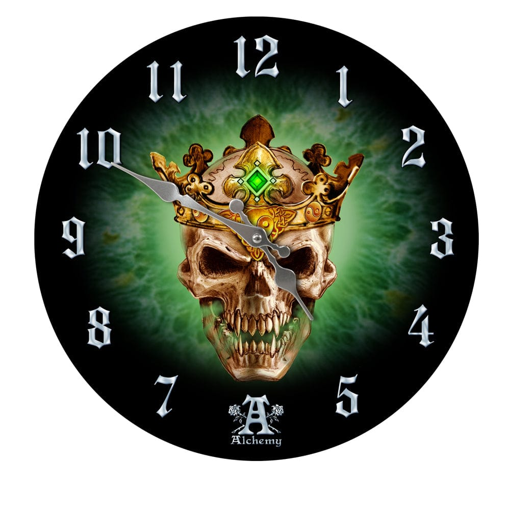 Skull Crown Prince of Oblivion Wall Clock - Skull Clothing and Accessories Skull only Merchandise