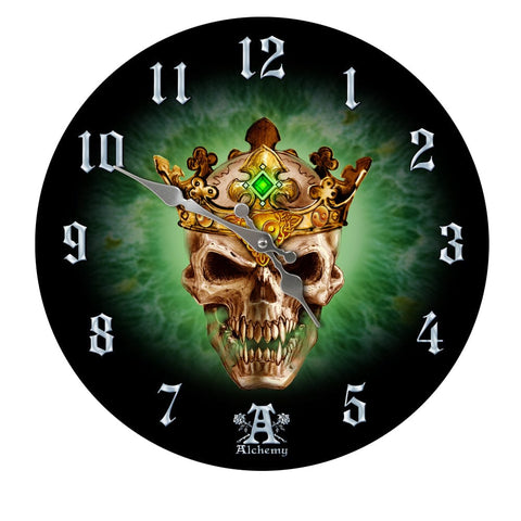 Skull Crown Prince of Oblivion Wall Clock