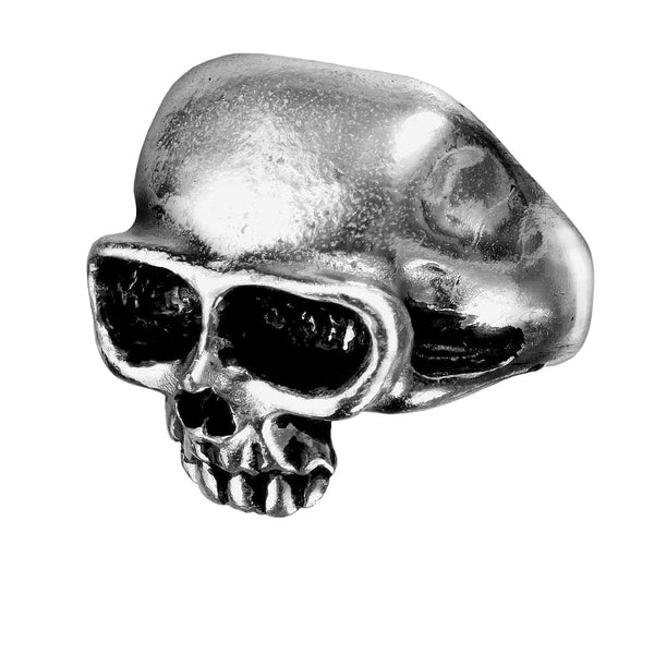 Skull Face of Death Fine English Pewter Ring
