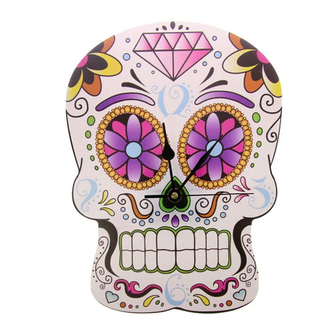 Sugar Skull Wall Clock Modern Home Decor
