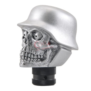 Universal Car or Truck Manual Skull Soldier Helmet Gear Shift Knob
