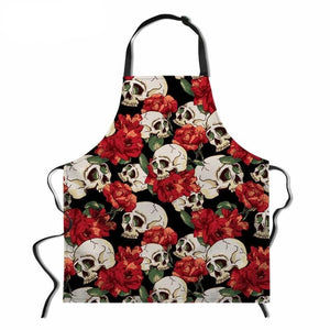 Kitchen Skull Cooking Chef BBQ Apron 10 Patterns