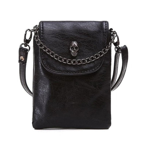 3 Cololrs Shoulder Cross-body Small Bag Skull Chain