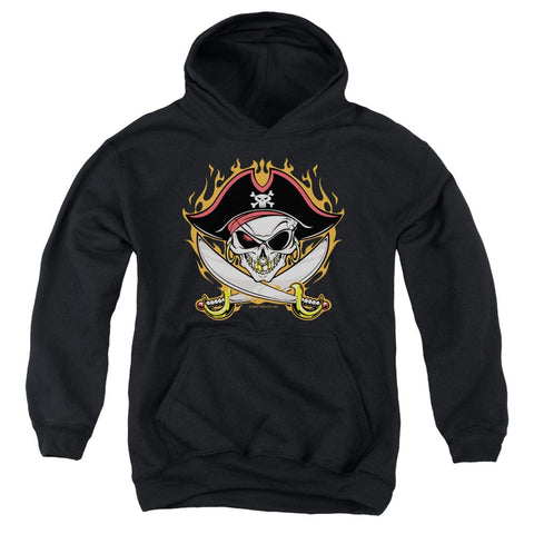 Youth Pirate Skull Pullover Hoodie