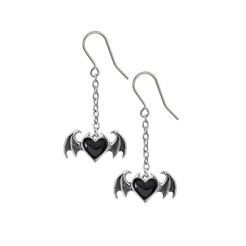 blackdropearringsDemon Heart of A Gothic Seductress Blacksoul Drop Earrings