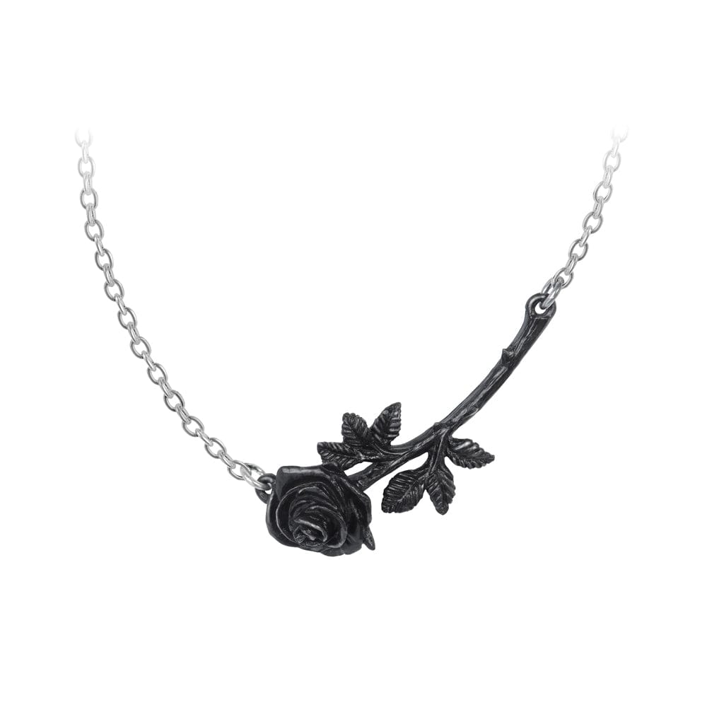 Black Dark Rose Thorn Necklace