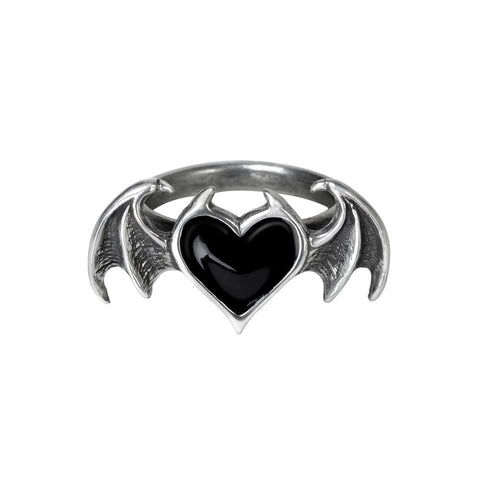 Black Demon Heart Gothic Soul Ring
