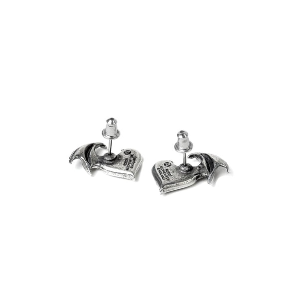 Blacksoul Demon Heart Ear Studs