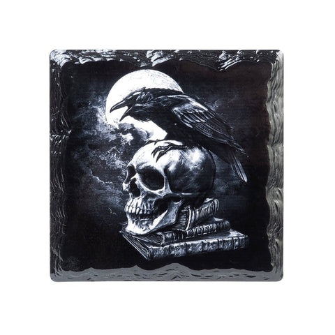 Poes Raven Slate Ceramic Hot Pot or Dish Coaster