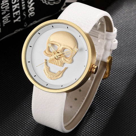 Skull Quartz Stainless Steel Wristwatch - Skull Clothing and Accessories Skull only Merchandise