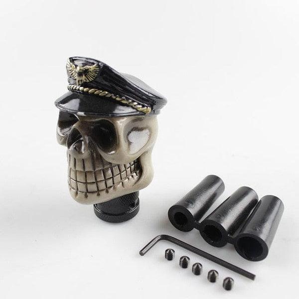 Skull Head Resin Manual Transmission Gear Shift Knob - Skull Clothing and Accessories Skull only Merchandise