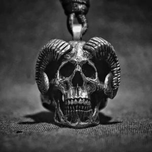 Gothic Skull Goat Stainless Steel Pendant Unique Jewelry - Skull Clothing and Accessories Skull only Merchandise